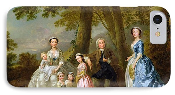 Samuel Richardson Seated With His Family IPhone Case by Francis Hayman