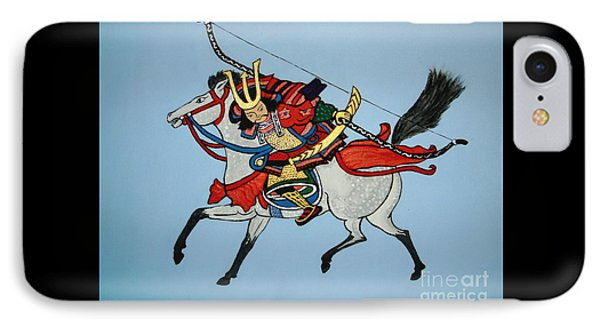 IPhone Case featuring the painting Samurai Rider by Stephanie Moore