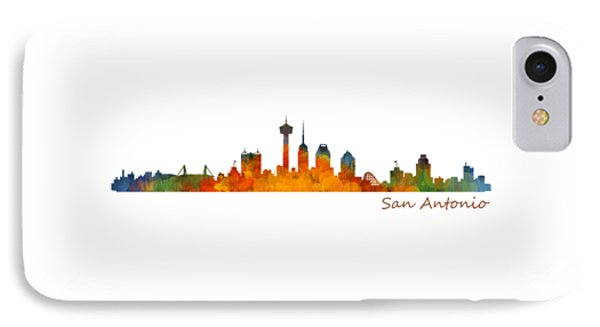 San Antonio City Skyline Hq V1 IPhone Case by HQ Photo