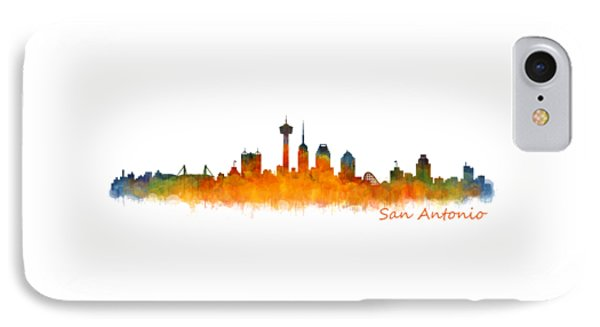 San Antonio City Skyline Hq V2 IPhone Case by HQ Photo