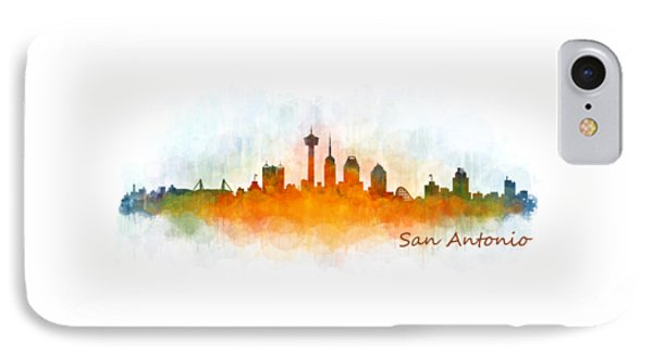 San Antonio City Skyline Hq V3 IPhone Case by HQ Photo
