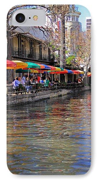 San Antonio Riverwalk IPhone Case by Angela Murdock