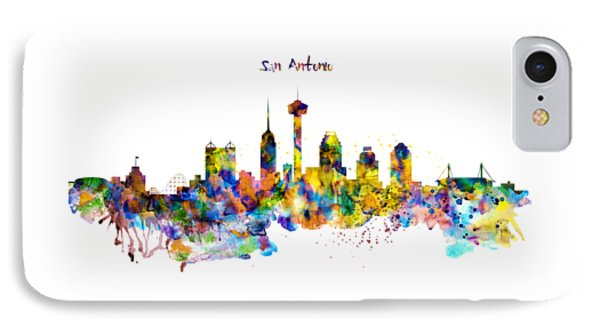 San Antonio Skyline Silhouette IPhone Case