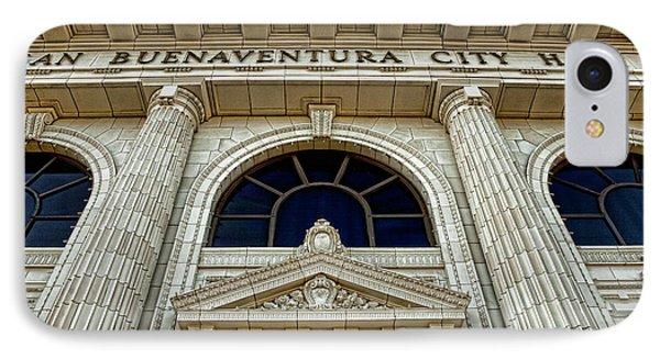 San Buenaventura City Hall IPhone Case by John A Rodriguez