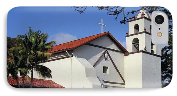 IPhone Case featuring the photograph San Buenaventura Mission by Mary Ellen Frazee