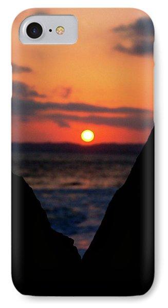 San Clemente Beach Rock View Sunset Portrait IPhone Case by Matt Harang