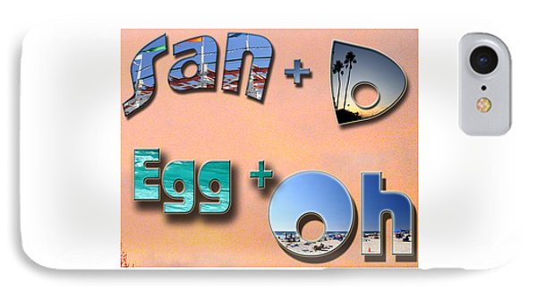 San D Egg Oh IPhone Case by Christopher Woods