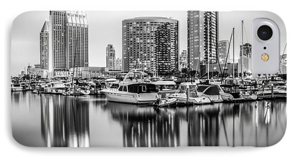 San Diego At Night Black And White Picture IPhone Case