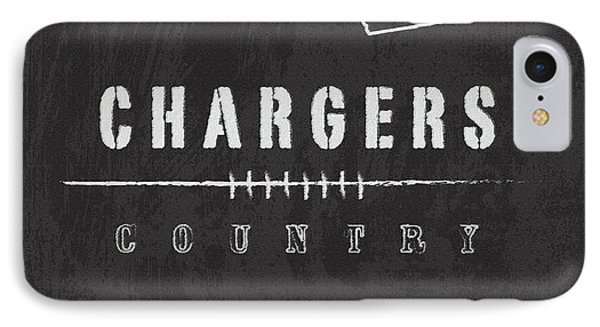 San Diego Chargers Art - Nfl Football Wall Print IPhone Case