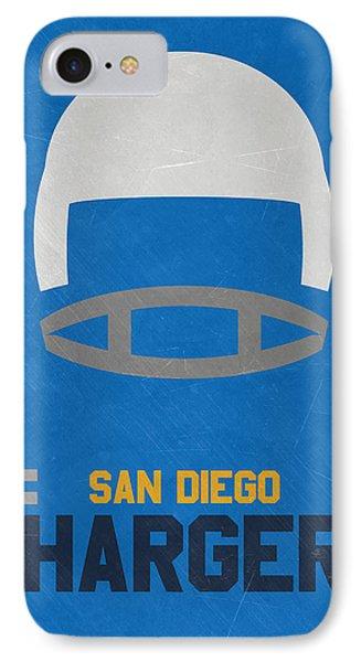 San Diego Chargers Vintage Art IPhone Case by Joe Hamilton