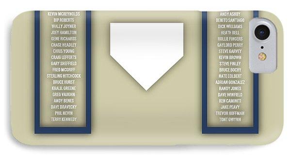 San Diego Padres Art - Mlb Baseball Wall Print IPhone Case