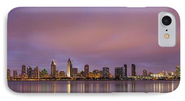 San Diego Skyline IPhone Case by Adam Romanowicz