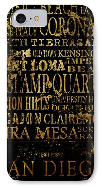 San Diego Typography IPhone Case