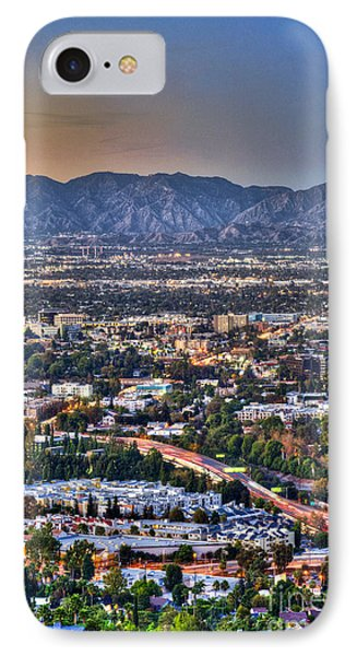 San Fernando Valley Vertical IPhone Case by David Zanzinger