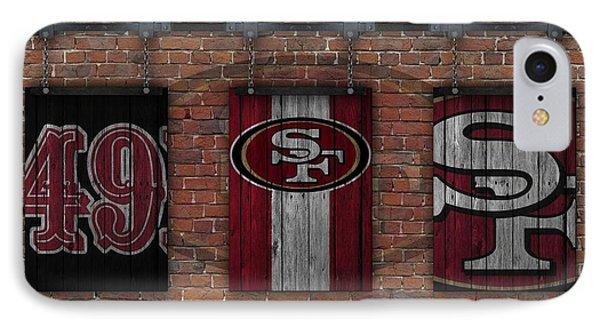San Francisco 49ers Brick Wall IPhone Case by Joe Hamilton