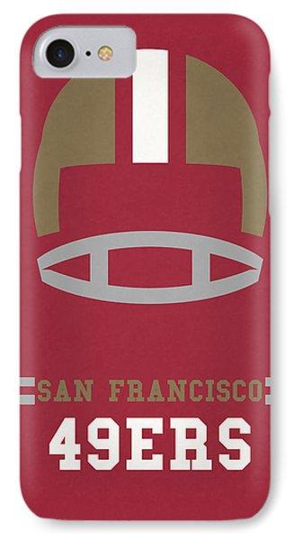 San Francisco 49ers Vintage Art IPhone Case by Joe Hamilton