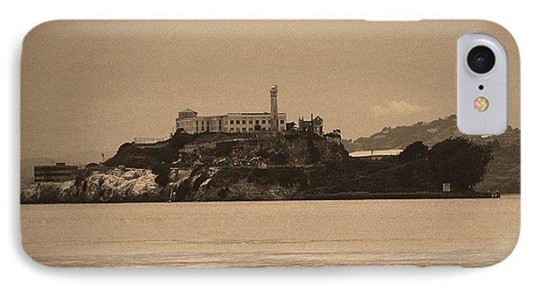 San Francisco - Alcatraz Island Sepia #2 IPhone Case