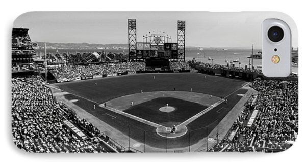 San Francisco Ballpark Bw IPhone Case by C H Apperson