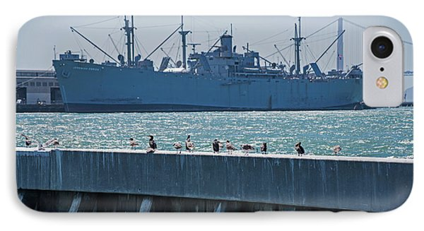 San Francisco Battle Ship Pier 39 Fisherman's Wharf IPhone Case by Toby McGuire
