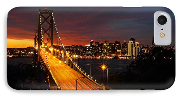 San Francisco Bay Bridge At Sunset IPhone Case by Pierre Leclerc Photography