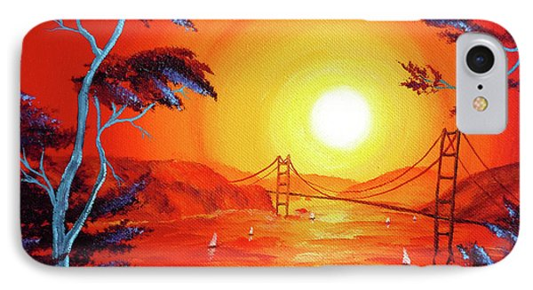 San Francisco Bay In Bright Sunset IPhone Case by Laura Iverson