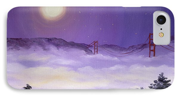 San Francisco Bay In Purple Fog Phone Case by Laura Iverson