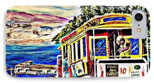 San Francisco Cable Car Art IPhone Case by Irving Starr