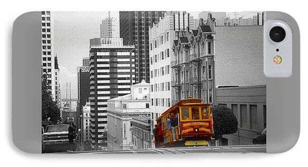 Red Cable Car - San Francisco Highlight IPhone Case by Art America Gallery Peter Potter