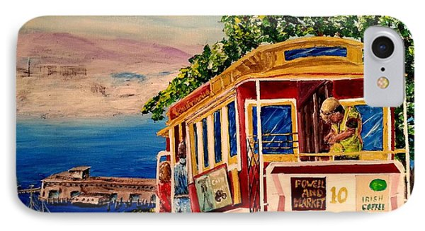 San Francisco Cable Car IPhone Case by Irving Starr