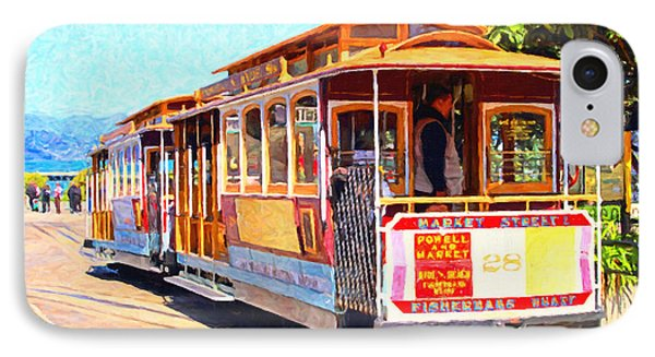 San Francisco Cablecar At Fishermans Wharf . 7d14097 IPhone Case by Home Decor