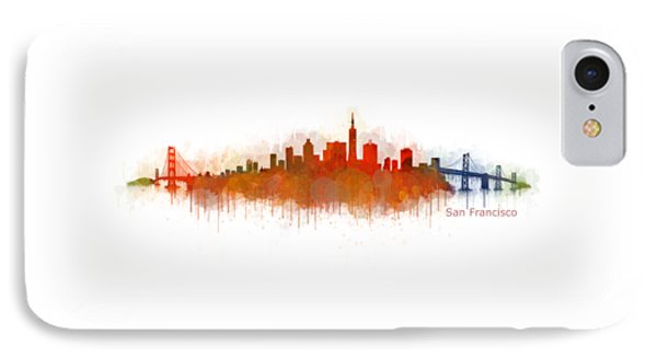 San Francisco City Skyline Uhq V4 IPhone Case by HQ Photo