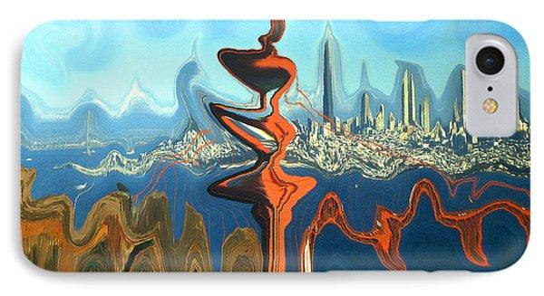 San Francisco Earthquake - Modern Art IPhone Case