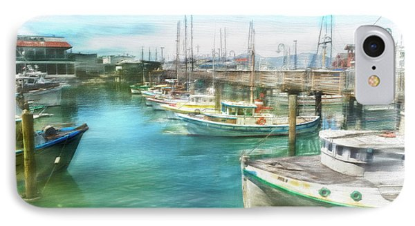 IPhone Case featuring the digital art San Francisco Fishing Boats by Michael Cleere