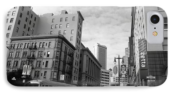 San Francisco - Jessie Street View - Black And White IPhone Case by Matt Harang