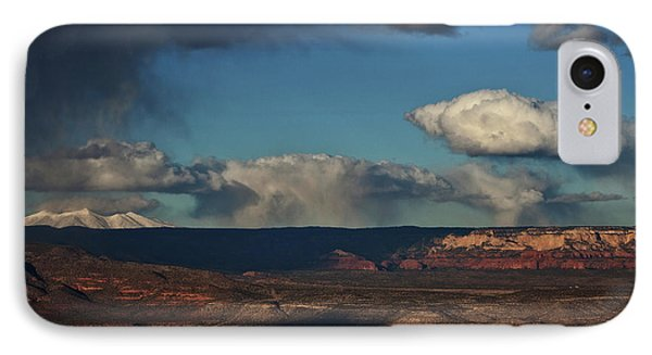 IPhone Case featuring the photograph San Francisco Peaks With Snow And Clouds by Ron Chilston