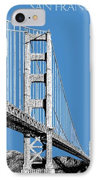 San Francisco Skyline Golden Gate Bridge 2 - Slate Blue IPhone Case by DB Artist