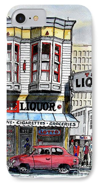 IPhone Case featuring the painting San Francisco Street Corner by Terry Banderas