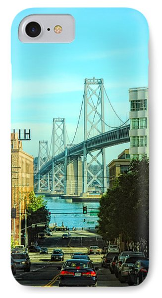 San Francisco Street IPhone Case by Donna Blackhall