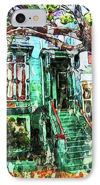 San Francisco Victorian IPhone Case by Joan Reese