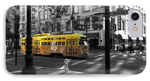 San Francisco Vintage Streetcar On Market Street - 5d19798 - Bla IPhone Case