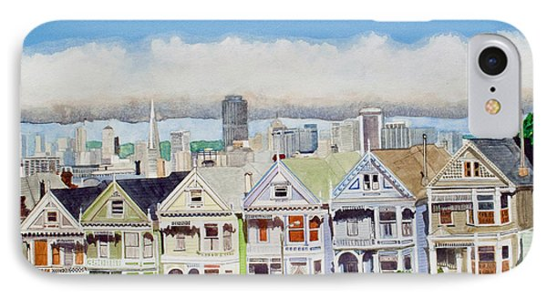 San Francisco's Painted Ladies Phone Case by Mike Robles