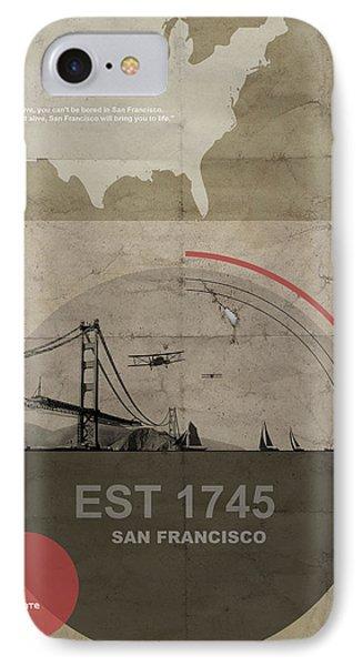 San Fransisco IPhone 7 Case by Naxart Studio