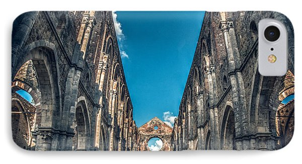 San Galgano Church Ruins In Siena - Tuscany - Italy IPhone Case by Luca Lorenzelli