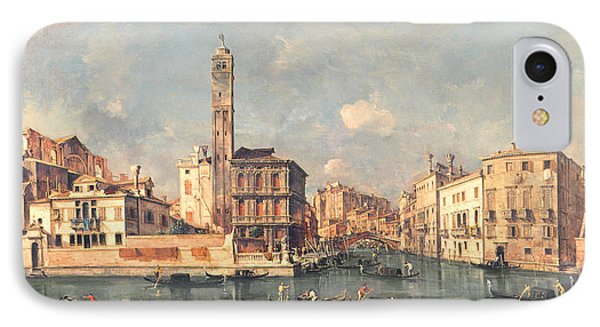 San Geremia And The Entrance To The Canneregio Phone Case by Francesco Guardi