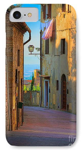 San Gimignano Alley IPhone Case by Inge Johnsson