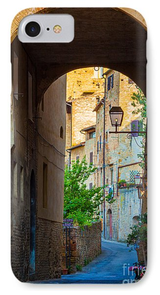 San Gimignano Archway Phone Case by Inge Johnsson