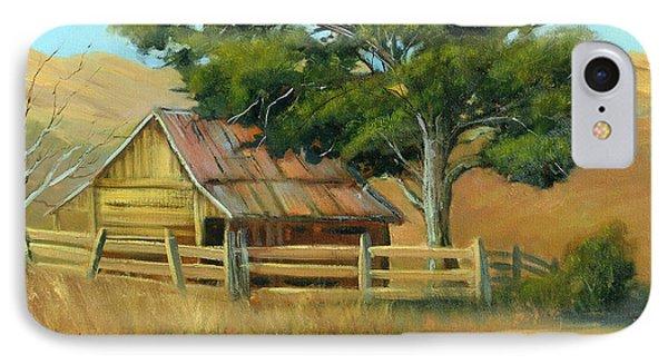 San Joaquin Barn Phone Case by Sally Seago