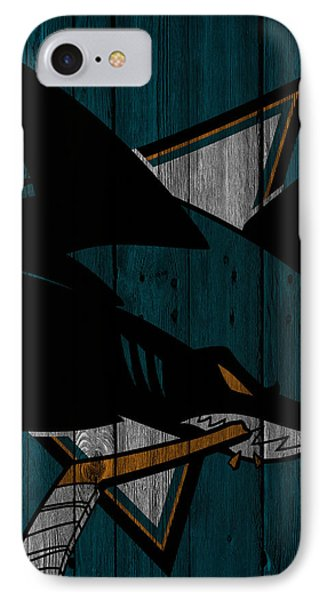 San Jose Sharks Wood Fence IPhone Case