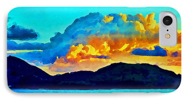 IPhone Case featuring the painting San Juan Seascape by Joan Reese