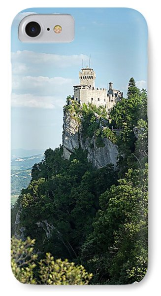 IPhone Case featuring the photograph San Marino - Guaita Castle Fortress by Joseph Hendrix